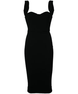 Victoria Beckham | Sweetheart Neck Fitted Dress Womens Size 2 Silk/Acetate/Polyester/Triacetate