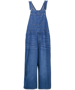 G.V.G.V. | Denim Lace-Up Dungarees Womens Size 34 Cotton