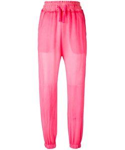 Amen | Drawstring Waist Trousers Womens Size 40 Silk/Cotton/Spandex/Elastane
