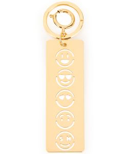 Sophie Hulme | Face Stencil Keyring Charm Womens Brass