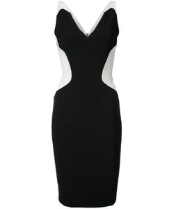 Mugler | Contrast Sweetheart Neck Dress Womens Size 38 Acetate/Polyester/Viscose/Spandex/Elastane