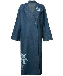 Raquel Allegra | Print Denim Trench Coat Womens Size 1