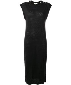 Iro | Lace Up Shoulders Dress Womens Size Medium Linen/Flax