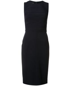 Narciso Rodriguez | Stitching Detail Fitted Dress Womens Size 38 Silk/Spandex/Elastane/Wool
