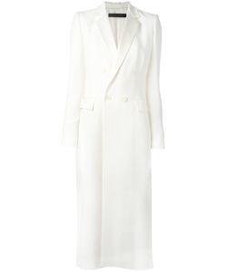 Elie Saab | Double Breasted Coat Womens Size 36 Acetate/Viscose/Spandex/Elastane/Rayon