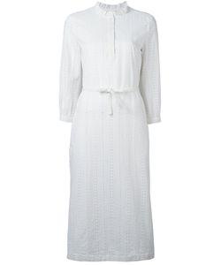 A.P.C. | Perforated Shirt Dress Womens Size 38 Cotton/Viscose