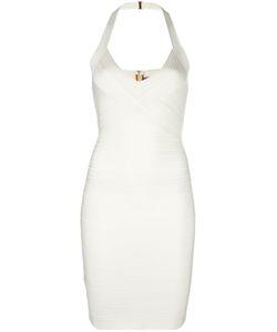 Hervé Léger | Fitted Dress Womens Size Small Rayon/Nylon/Spandex/Elastane