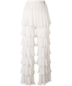 Twin-Set | Laye Ruffled Straight Trousers Womens Size 40 Viscose
