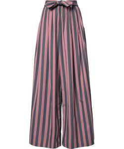 Tome | Wide Stripe Long Karate Trousers Womens Size Medium Cotton