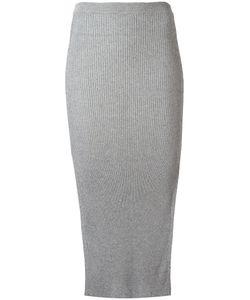 Mugler | Ribbed Knit Skirt Womens Size Xs Cotton/Viscose/Polyester
