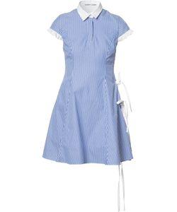 Sandy Liang   Striped Dress Womens Size 36 Cotton