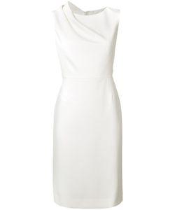 Paule Ka | Draped Shoulder Dress Womens Size 4 Polyester/Virgin Wool