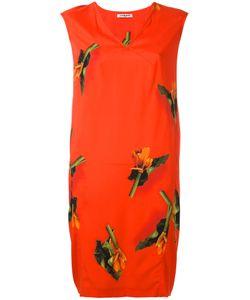 Cacharel | Leaf Print Dress Womens Size 36 Silk/Spandex/Elastane