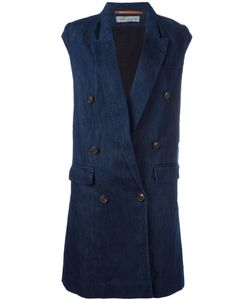 Veronique Branquinho | Double Breasted Waistcoat Womens Size 42 Cotton/Linen/Flax