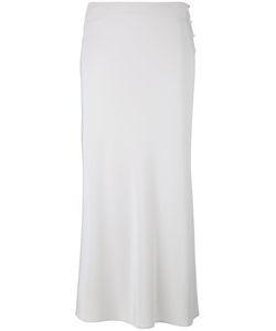 Calvin Klein Collection   Side Button Skirt Womens Size 42 Silk