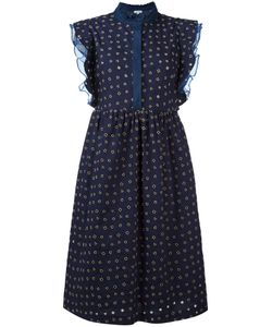 Manoush | Volant Denim Dress Womens Size 40 Cotton/Polyester