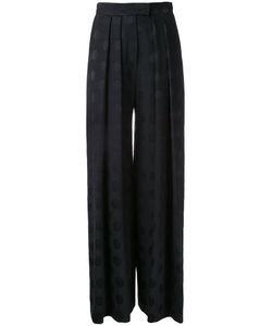 Martin Grant | Dotted Pattern Palazzo Pants Womens Size 38 Cupro/Viscose/Virgin