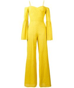 Daizy Shely | Perforated Detail Jumpsuit Womens Size 42 Cotton