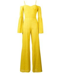 Daizy Shely | Perforated Detail Jumpsuit Womens Size 40 Cotton