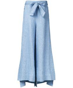 Demoo Parkchoonmoo | Belted Fla Trousers Womens Size 36 Linen/Flax