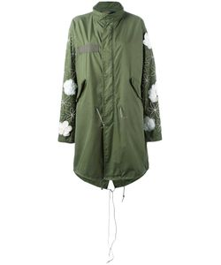 Night Market | Embellished Military Coat Womens Size Small Cotton/Nylon/Silk