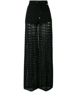 Twin-Set | Sheer Straight Trousers Womens Size Xl Viscose/Polyamide