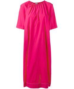 Hache   Gathe Neck Shift Dress Size 42 Cotton/Spandex/Elastane