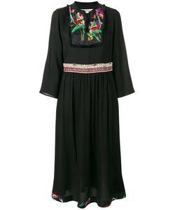 Etro | Print Pleated Trim Dress Womens Size 42 Viscose/Silk