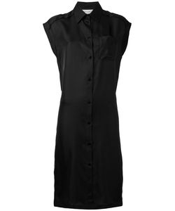 Maison Margiela | Cap Sleeve Shirt Dress Womens Size 42 Silk