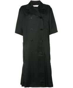 Victoria Beckham | Shortsleeved Double Breasted Coat Womens Size 8 Acetate/Silk/Viscose