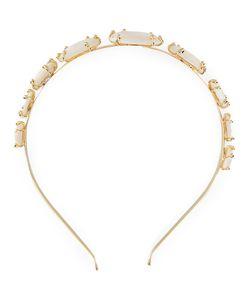 Rosantica   Headband Womens 24kt Plated Metal/Pearls