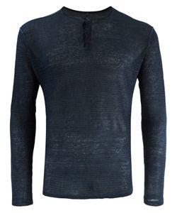 Transit | Henley T-Shirt Mens Size Xxl Linen/Flax