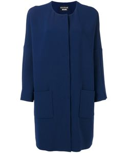 Boutique Moschino | Loose-Fit Coat Womens Size 44 Triacetate/Polyester