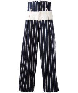 Yohji Yamamoto | Striped Cropped Pants Mens Size 4 Cotton