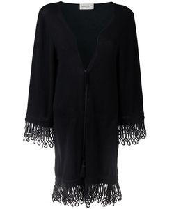 Antonia Zander | Drawstring Cardi-Coat Womens Size Medium Cotton/Polypropylene/Cashmere