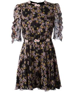 Giamba | Bee Print Mini Dress Womens Size 38 Silk/Polyester