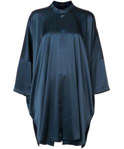 Baja East | Mandarin Neck Tunic Shirt Womens Triacetate/Polyethylene