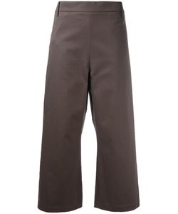 Ter Et Bantine | Cropped Wide-Leg Trousers Womens Size 46 Cotton