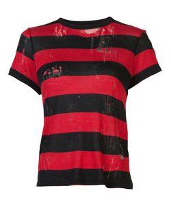 Amiri | Destroyed Striped T-Shirt Womens Size Medium Cotton/Cashmere