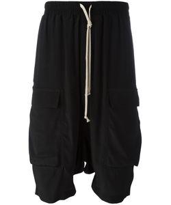 Rick Owens | Pod Cargo Shorts Mens Size 48 Silk/Acetate