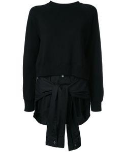 Mihara Yasuhiro   Miharayasuhiro Laye Tied Detail Sweatshirt Womens Size 36 Cotton