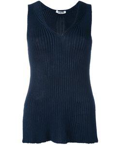 Cacharel | Ribbed Knit Top Womens Size Medium Viscose/Polyamide