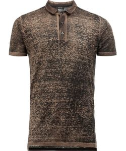 Avant Toi | Distressed Knit Polo Shirt Mens Size Xxl Linen/Flax