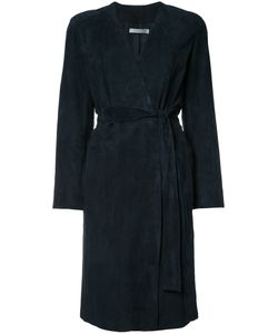 Vince | Belted Coat Womens Size Xs Suede/Acetate