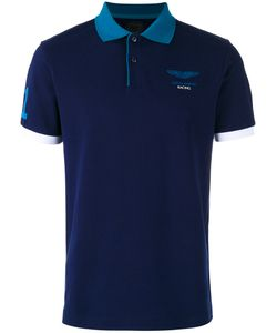 Hackett | Chest Print Polo Shirt Mens Size Xl Cotton/Spandex/Elastane