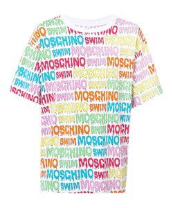 Moschino   Logo Print T-Shirt Mens Size Large Cotton/Spandex/Elastane