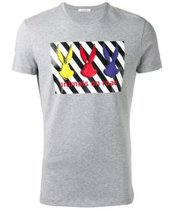 Iceberg | Embellished Printed T-Shirt Size Xl Cotton/Spandex/Elastane
