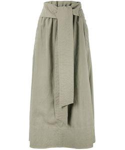 Joseph   Drawstring Pleated Skirt Womens Size 36 Polyamide/Polyester