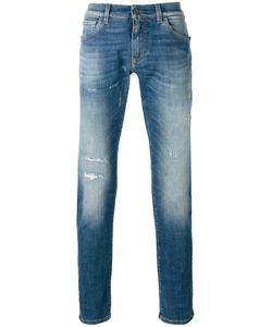 Dolce & Gabbana   Distressed Front Jeans Mens Size 48 Cotton/Spandex/Elastane
