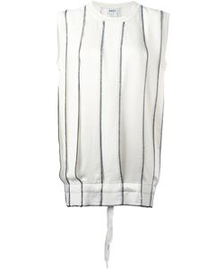 DKNY | Pleated Knitted Top Womens Size Xs Polyester/Triacetate/Merino